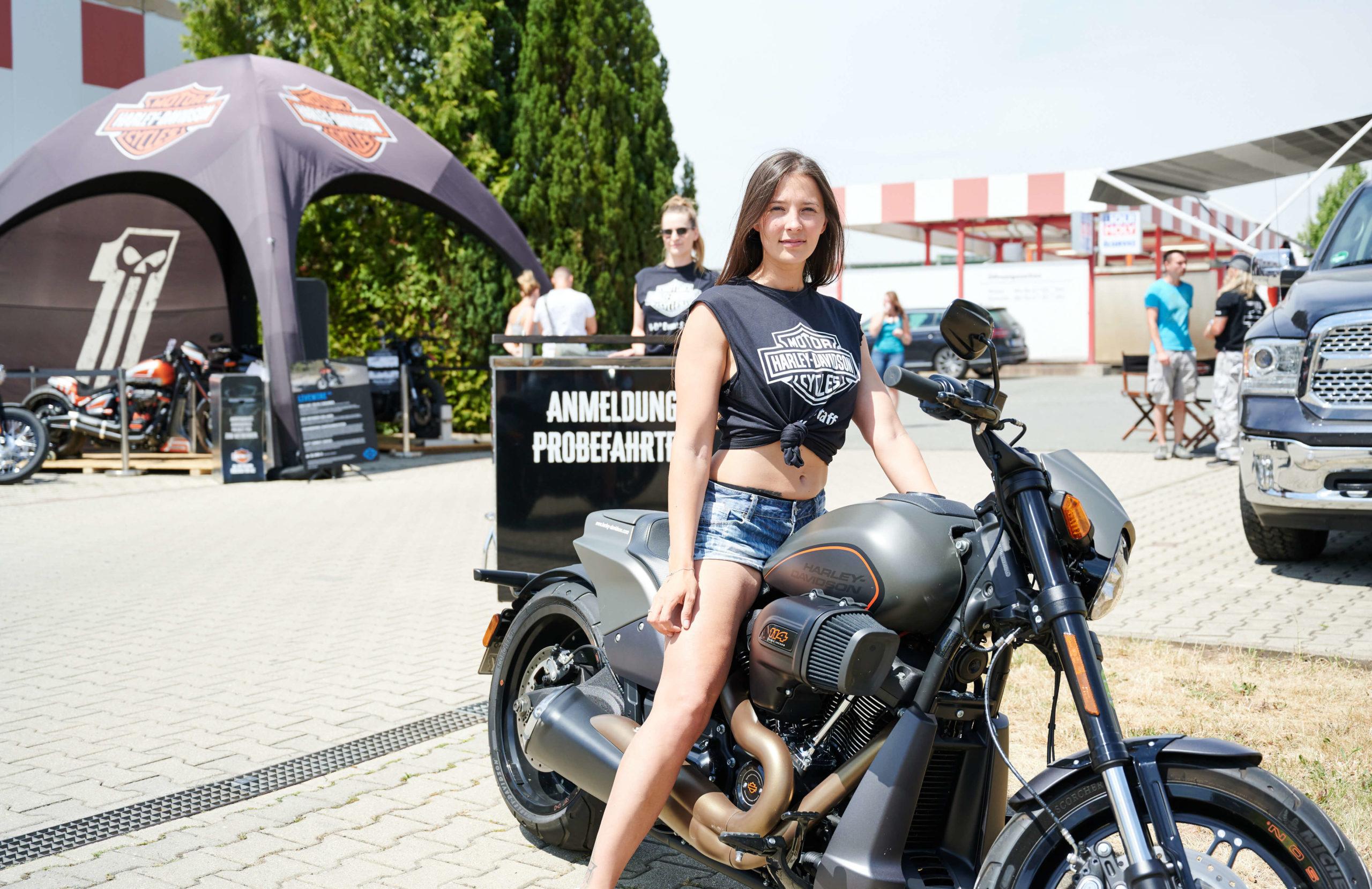 Promoterin von Promotionagentur PRO-VOGUE für Harley-Davidson