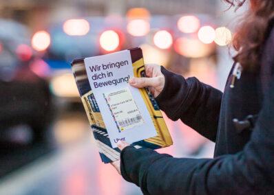 Postwurf Promotion der Promotionagentur PRO-VOGUE für UBER