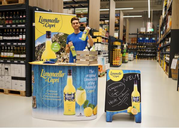 Handelspromotion der Promotionagentur PRO-VOGUE für Limoncello