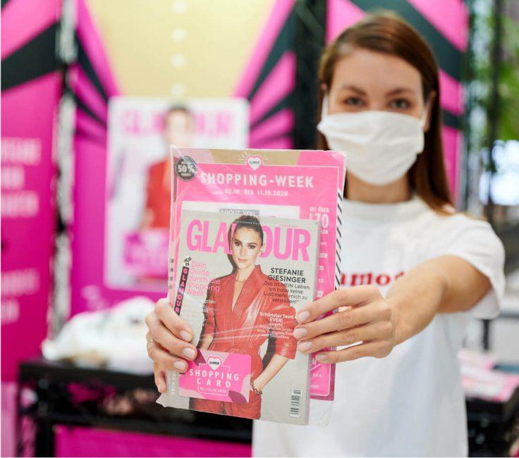 Promoterin der Promotionagentur PRO-VOGUE für Glamour Shoppingweek