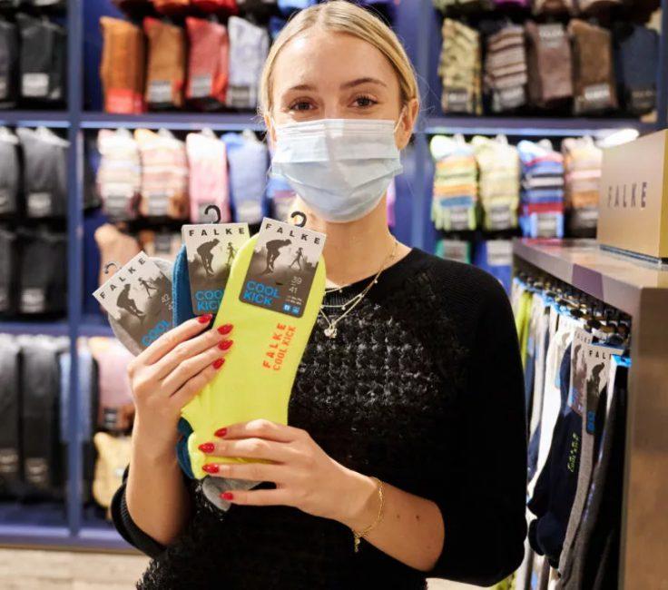 Einkaufszentrum Promotion der Promotionagentur PRO-VOGUE für FALKE