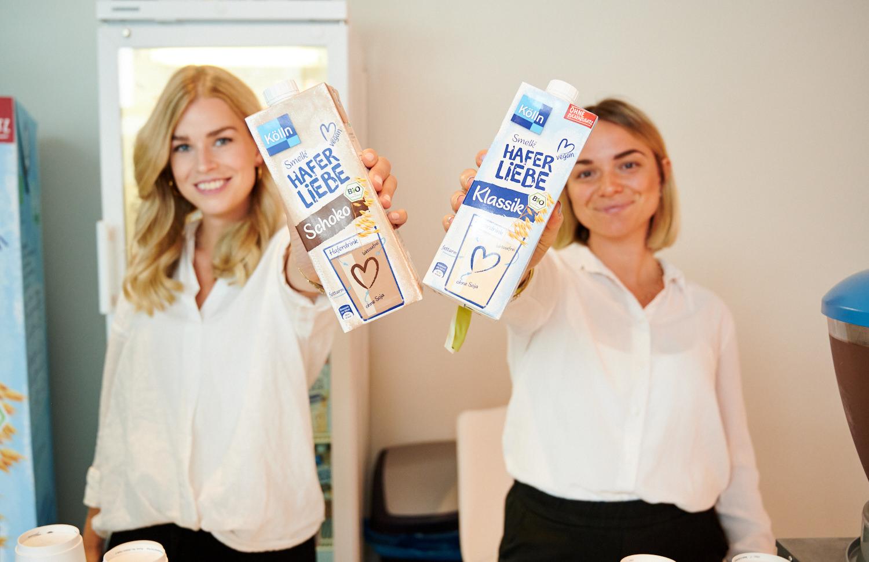 Promoterinnen der Verkostungsagentur PRO-VOGUE für Kölln