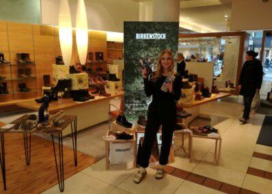Promoterin der Promotionagentur PRO-VOGUE für Birkenstock
