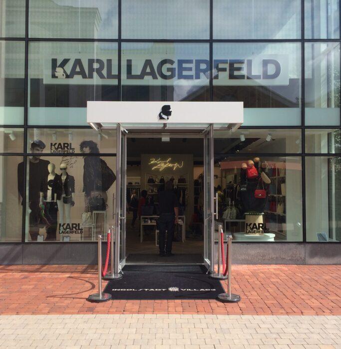 Eingang vom Store Karl Lagerfeld in Ingolstadt Village