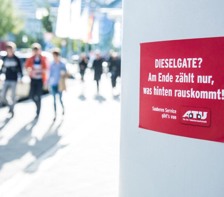 Guerilla Marketing der Promotionagentur PRO-VOGUE für ATU