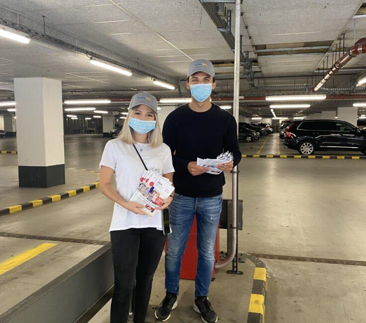 Parkplatz Promotion der Promotionagentur PRO-VOGUE für Plasmavita