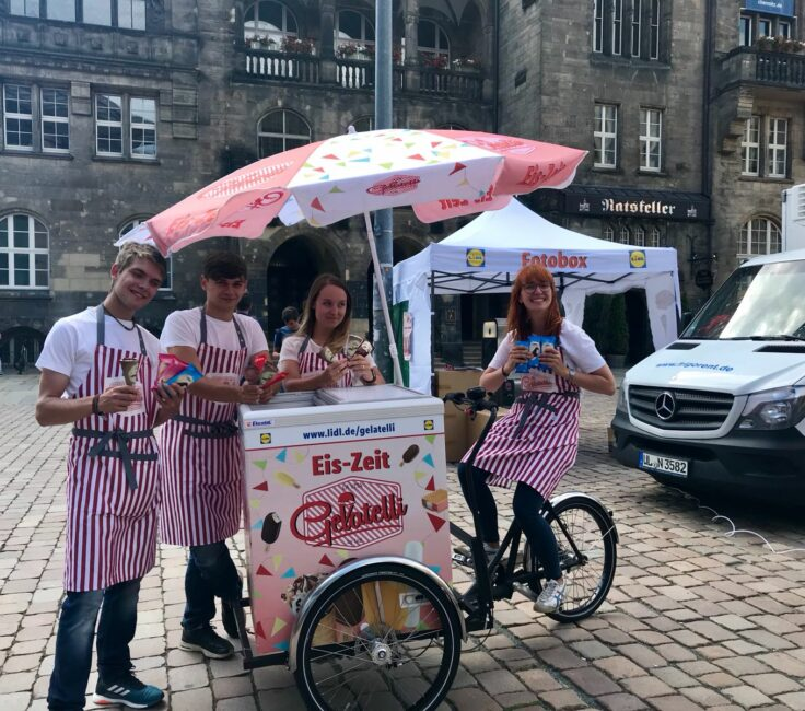 Bike Promotion der Promotionagentur PRO-VOGUE für LIDL