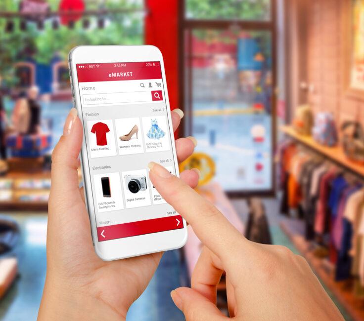 Shopping mit Handy